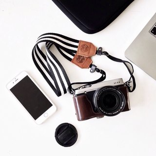 Camera Strap Black and White