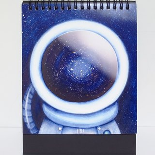 Astronaut desk calendar / date blank unlimited use time