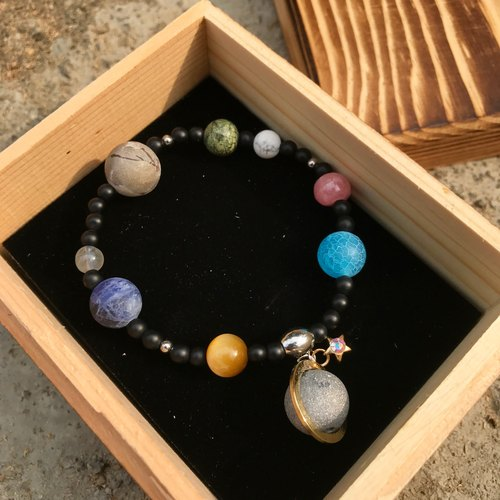 【Lost And Find】Natural gemstone galaxy planet bracelet