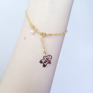 Gingerbread Man Christmas Bracelet