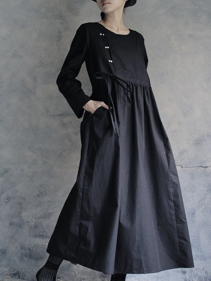OMAKE Original cherry dress / black