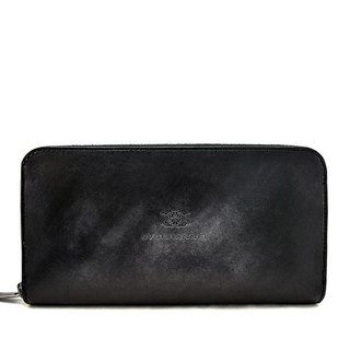 ACROMO Black Zip Around Wallet