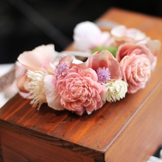 Wrist flower 【Dry flowers and artificial flowers】 Sun rose (pink)