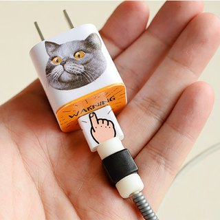 Apple cartoon pet data cable charging head sticker charger sticker