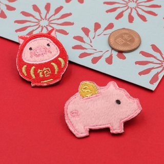 UPICK original life, pet, pig, embroidery, brooch, small accessories, * * * savi