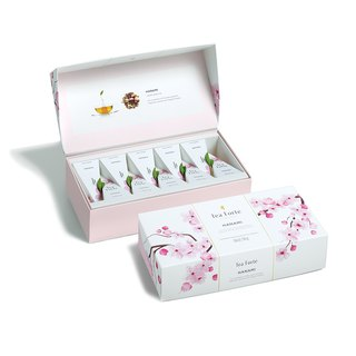 Tea Forte 10 Into Pyramid Silk Tea Bag - Flower Tea Set