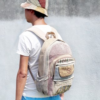 Valentine quickly after the arrival of a limited edition hand-stitching design cotton backpack / shoulder bag / ethnic mountaineering bag / Patchwork bag - peace after ethnic geometric rucksack
