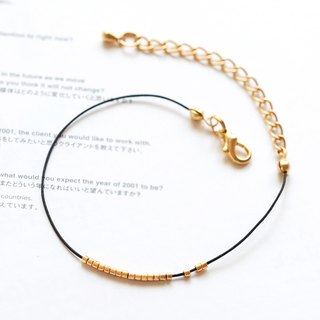 "Mobile Gold Bead Extremely Bohemian Wind Wire Bracelet / Necklace ""Small Chain Club"" BMK015"