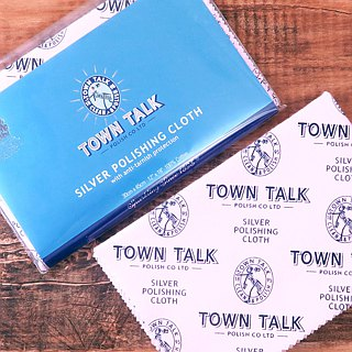 Silverware wipe cloth (silver cloth / silver cloth) (large) British Town Talk jewelry cleaning and care products