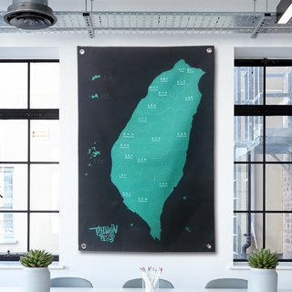 Taiwan map hang cloth cloth temperament play color