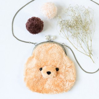 Good accompany Baby Fur / mouth gold bag / side backpack / Christmas gift / exchange gifts