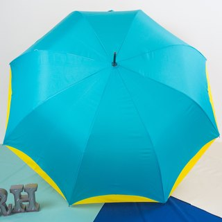 Rainbow House double color umbrella - blue yellow (not sent abroad)