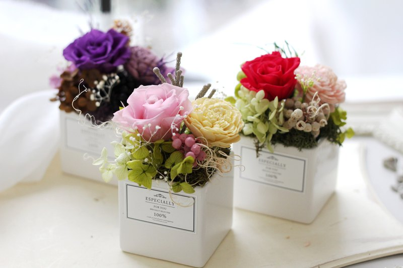 Flower ceremony design (not withered flower series) Japanese romantic rose potted flowers - Designer Ariel\u0027s design | Pinkoi & Flower ceremony design (not withered flower series) Japanese ...