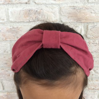 Linen Hair band- Cassis pink