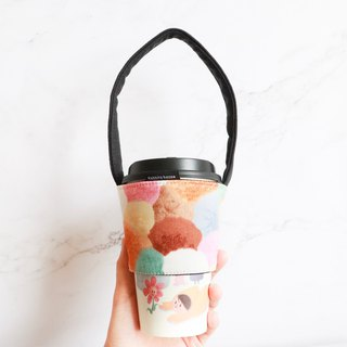 Eco-friendly beverage bag bag - colored hair ball