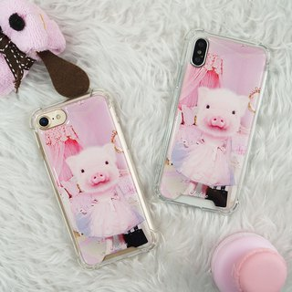 [Pig with princess disease] anti-gravity cushion anti-fall mobile phone case