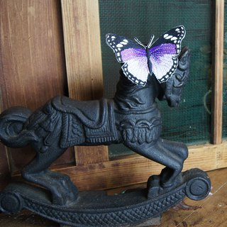 Xu Fu to Fleisch - Wudie flying butterfly embroidery iron absorption - monarch (purple)