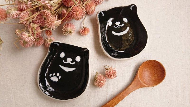 Hey!鳥朋友!迷你蛋貓造型碟-台灣黑熊
