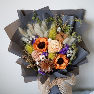 Unfinished | Autumn dry flower fruit cotton bouquet spot