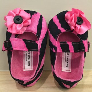 US imports handmade fashion toddler shoes (pink stripe paragraph)
