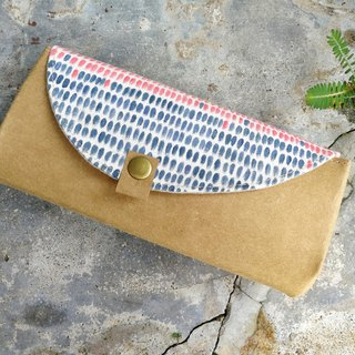 【With the series of painted red and blue point organ wallet