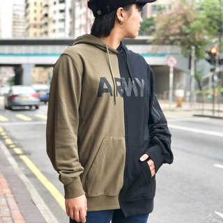 Army left and right two-tone sweater