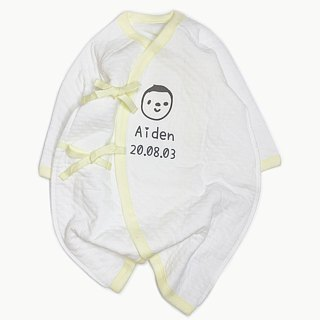 English name order / international certification natural organic cotton newborn gift full moon ceremony baby cotton bag fart clothing monk gown protect belly gown clip clothing can add small map