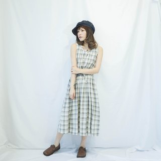 VINTAGE CHECKED SLEEVELESS DRESS