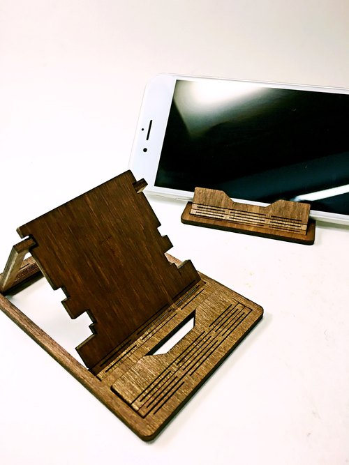 【TAB】 solid wood structure portable rack / custom / solid wood / hand / laser cutting / carving / mobile phone seat / wedding small objects / iPhone / mobile phone shell