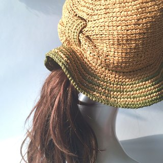Of course, hand made woven shade 㡌 / paper Rafi straw hat / straw hat / hand made hats handmade〗 〖crazy hopscotch