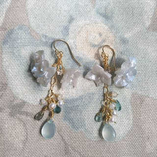 Handmade earrings Blue natural stone earrings detachable to wear