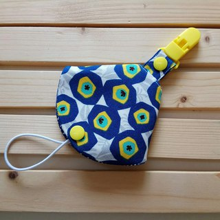 Blue flower two-in-one pacifier clip < pacifier dust bag + pacifier clip> dual function