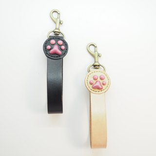 Leather cat key ring color section black models