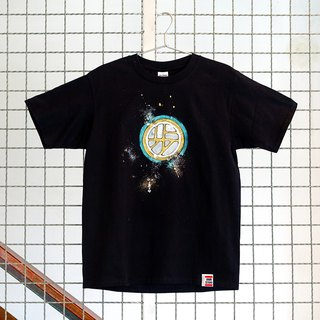 [Joint series | walking program X Annstudio] Logo hand-painted T - Bronze Shield (black)