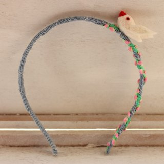 White wind bird hair hoop denim forest girl wind now has the spot, can be directly subscript