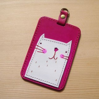 ISSIS - Summer Pink White Cat ID Card Set