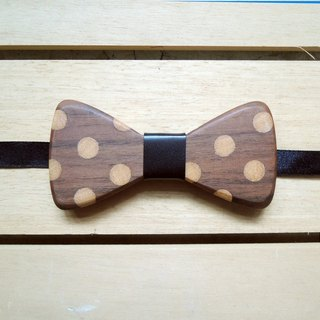Little bow tie - Walnut / Christmas gift / handmade / Leather