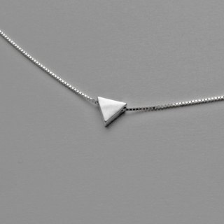 Crazy Geometry | Minimal Triangle Triangle Sterling Silver Necklace / Multi-Layer Chain. Christmas Exchange Gifts. Gifts