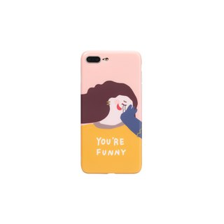 A look of original design smile girl heart ugly cute cute funny spoof creative lanyard silicone phone shell soft shell