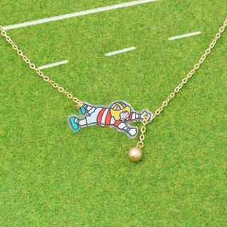 Rugby player Necklace