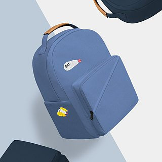 [Two-in-one discount] Seal embroidery canvas backpack with fried shrimp socks - new upgrade 2.0