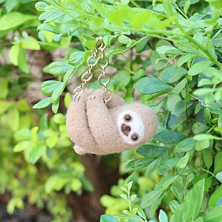 Wool Felt Lazy Waste Sloth Charm Bags Ornaments Keyring