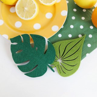 Le Yang·Gauisus- Leaf coaster/decoration-green/sour sweet ______