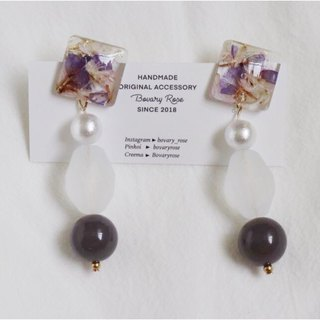 Pink and Purple Convergence Fog Purple Temperament Special Ear Clip Earrings