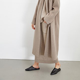 GAOGUO original design brand alpaca wool long woolen jacket