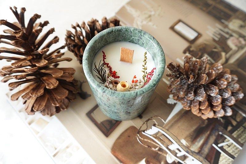 防疫居家佈置送禮首選 - 大理石香氛蠟燭 ft.不只是花實驗室