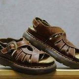 Tsubasa.Y 古著屋 咖啡色004圓環簍空馬汀涼鞋 , Dr.Martens England