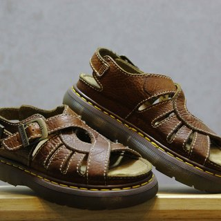 Tsubasa.Y Vintage House Brown 004 Circle basket empty cavaline sandals, Dr.Martens England