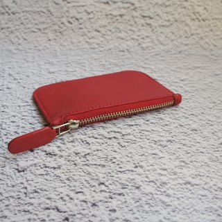 Red lambskin very thin wallet