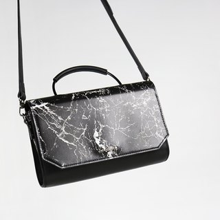 Clara Marble Leather Leather Square Bag